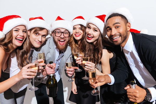 Men-and-women-Holiday-party-Stock-Photo-04