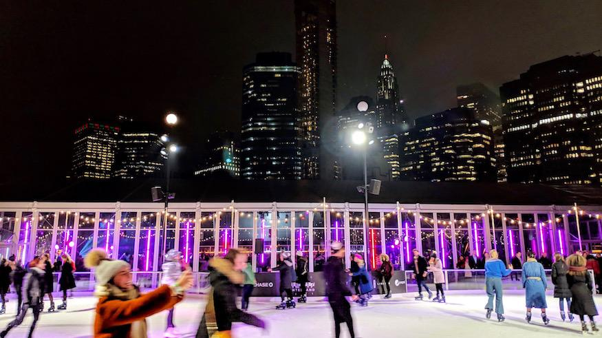 nostalgia company events - rooftop ice skating